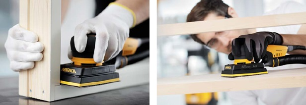 Mirka Deos vlakschuurmachine houtindustrie