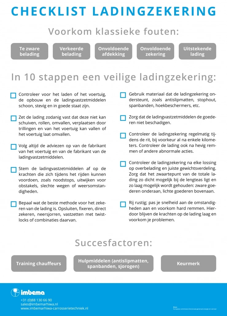 Checklist ladingzekering basisregels