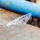 gesprongen waterleiding